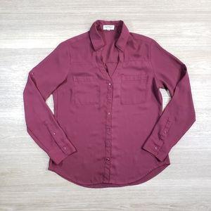 Express Portofino Shirt Burgundy Red Small